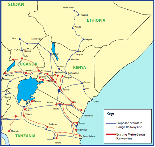 Proposed Standard Gauge Railway Project From Nairobi South