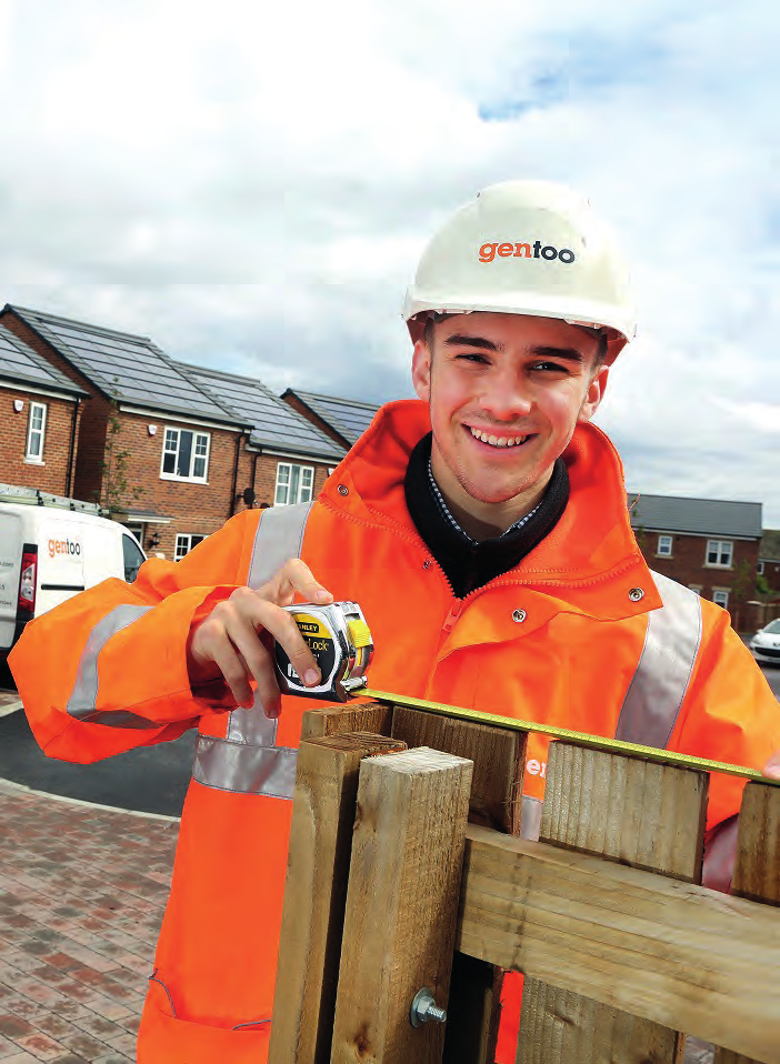 Owen Smith, Trainee Site Manager Working at Gentoo Every organisation wants to make an impact - and Gentoo is no exception.