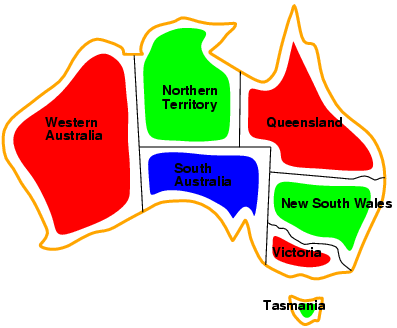 Example: Map-Coloring Variables WA, NT, Q, NSW, V, SA, T Domains D i = {red,green,blue} Constraints: adjacent regions must have different colors e.g., WA NT, or (WA,NT) in {(red,green),(red,blue),(green,red), (green,blue),(blue,red),(blue,green)} Example: Map-Coloring Solutions are complete and consistent assignments, e.