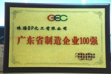 BPZ 2008 Verified Site Report 2008 Top 100 Enterprises and 100 Manufacturers in