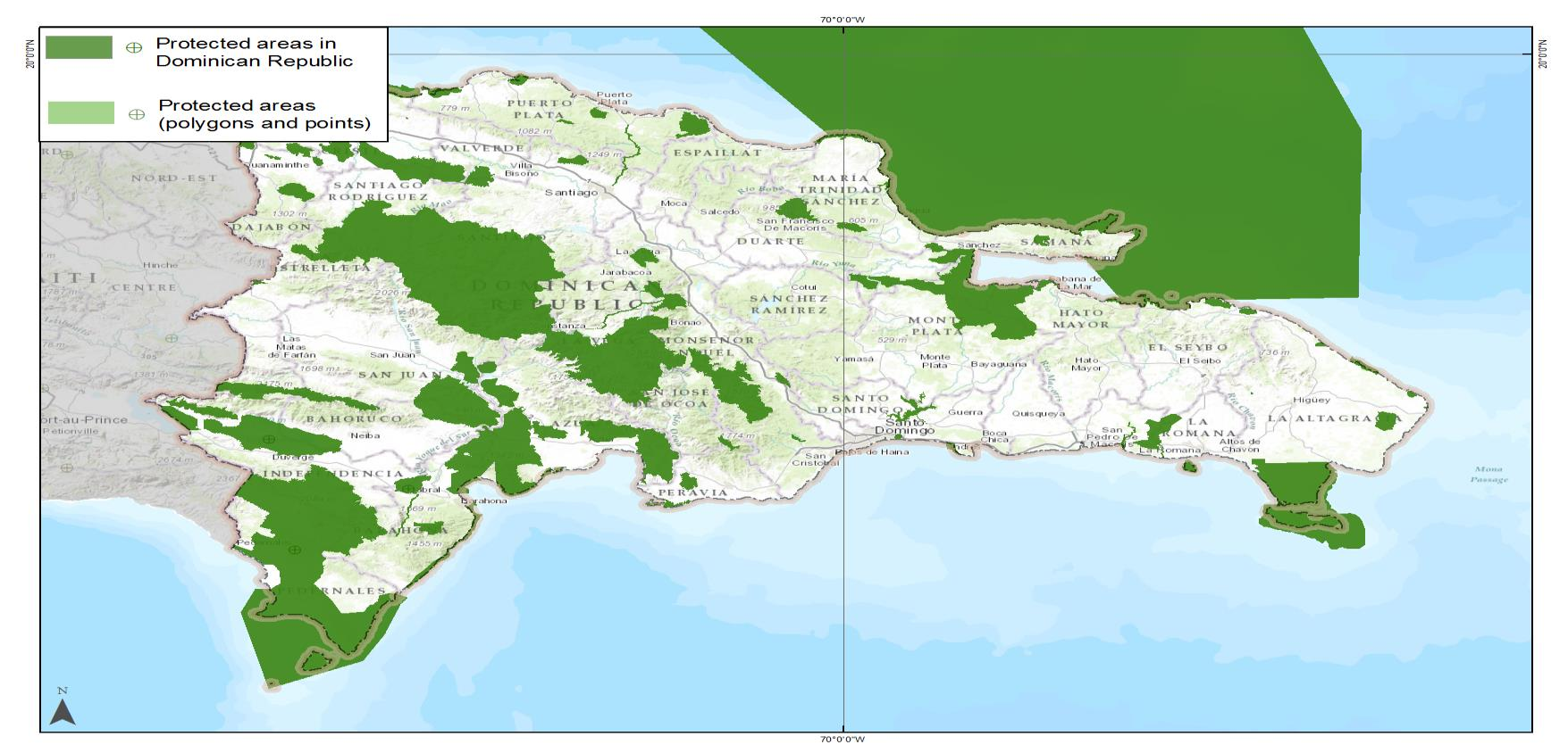 WDPA Data Status Report About this Report and the World Database on Protected Areas (WDPA) Map showing protected areas in the WDPA Dominican Republic January 2015 The WDPA is the most comprehensive
