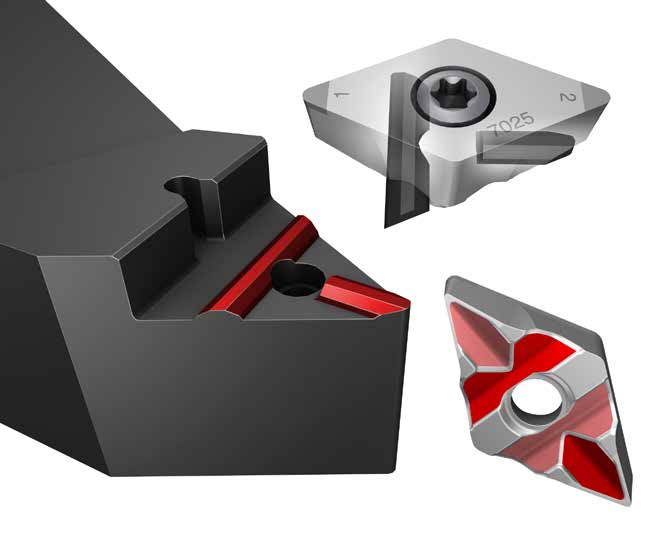 T-Max P Insert for Turning 7025 Grade CBN Neutral Cut Diamond 80/° Uncoated CNGA432S0835A 7025 Sandvik Coromant