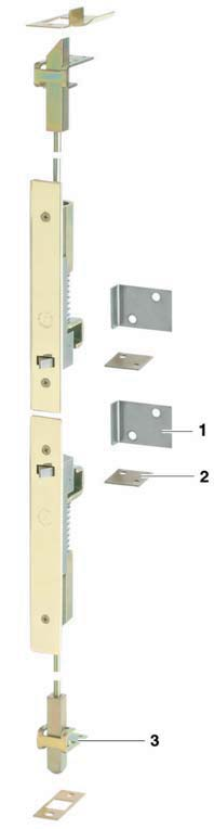 Fully automatic flush bolt For metal or wooden doors Automatic locking and release Width: 26 mm Throw (a): 19,1 mm Fixing A floor socket with a bolt aperture of 19 mm can be used as an alternative to