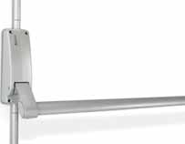 BRITON 376 PUSH BAR - VERTICAL PANIC BOLT Two point locking for extra security Anti-thrust device, prevents unauthorised retraction of the latch bolt Suitable for use on single and double door