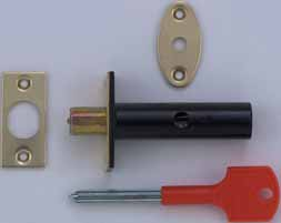 SECONDARY SECURITY RACK BOLT Morticed bolt that is suitable as additional security Fitted bolt cannot be seen from the outside Operated by key from inside only Recommended one bolt is used top and