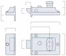 766 TRADITIONAL NIGHTLATCH Knob operation to withdraw the latch Non deadlocking Latch can be held in withdrawn position by snib 28 19 31 25 14 92 60 67 24 19 766 Code Description Case Size (A)