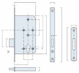 BRITON 5500 SERIES COMMERCIAL CYLINDER LOCKCASES COMMON FEATURES OF THE RANGE Designed for high quality commercial applications this range of euro profile lockcases have 72mm centres in line with the