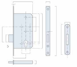 BRITON 5400 SERIES CONTRACT CYLINDER LOCKCASES COMMON FEATURES OF THE RANGE A contract range of euro profile lockcases for commercial use having 72mm centres in line with the recommendations of