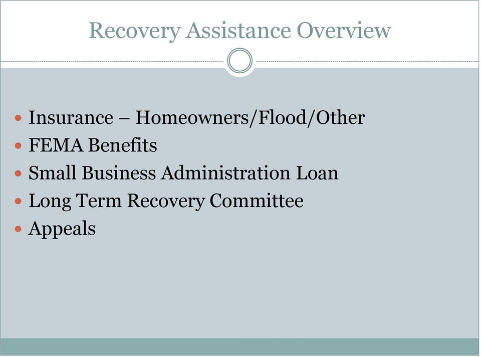 FEMA Benefits Small Business