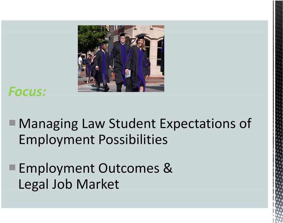 Student Expectations of Employment
