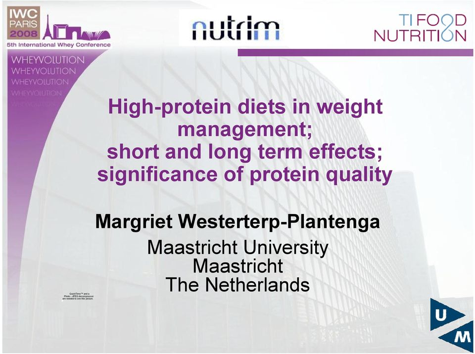 High-protein diets in weight management; short and long term