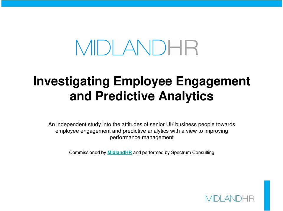 towards employee engagement and predictive analytics with a view to