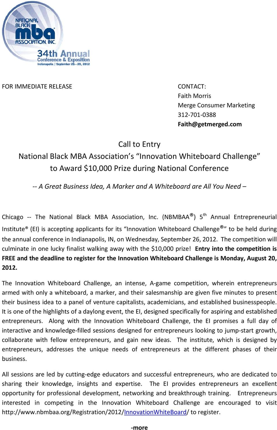 Chicago The National Black MBA Association, Inc.