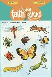 This project was inspired by the Faith That Sticks sticker pack God Made Bugs from Tyndale.