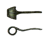 The oldest dateable artefacts we have found in Fröjel, besides an arrow head from late Stone Age, is a so called bow fibula (to the right); a brooch from the 6 th century.