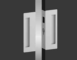 Passage Privacy The CL400 Magnetic is a range of modern architectural hardware for sliding doors. The range covers Passage, Privacy, Bi-Parting and Key Locking configurations.