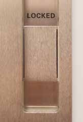 Privacy with Indicator The CAVILOCK CL400 Magnetic /Emergency pocket door hardware is available with the option of Privacy Indication. Ask for Privacy Indication at time of order!