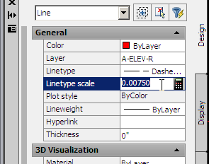 LINETYPES You may have to adjust the Linetype scale in the Properties menu to ensure lines appear properly in Model Space as well as in a