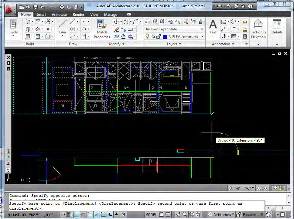 When drafting related drawings, it is often useful to align them in model space, just as you would in