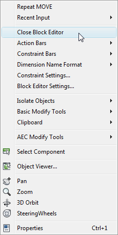 1. The block may be edited at the source file, or from within the drawing it s being used in. 2. Select block, rightclick, select Block Editor. 3.