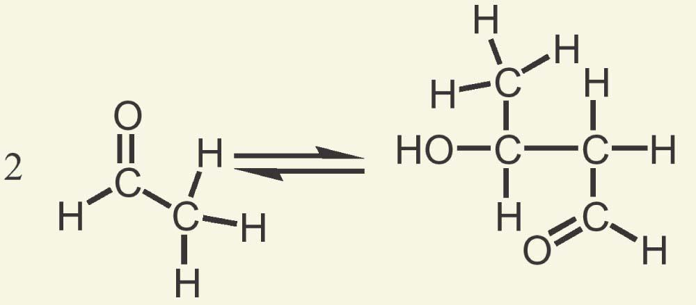 The Equilibrium of the Aldol The aldol reaction is reversible, favoring the condensation