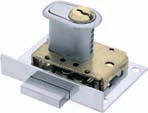 Special purpose locks SS cabinet locks pplication ylinder locks for light cupboard doors and drawers. Supplied with specially shaped cylinder. omes complete with striking plate.