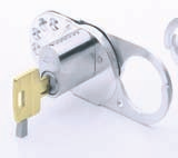 Special purpose locks locking locks pplication Special lock with cylinder for blocking switches and fuse boxes to prevent switching on while repairs are being made thereby preventing accidents.
