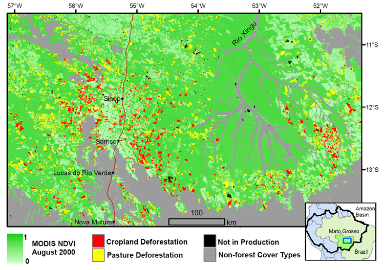 Contribution #3: Determining fate of land use following deforestation PRIMARY SECONDARY Pasture Forest Cropland NDVI x 10,000 10000 9000 8000 7000 6000 5000 4000 3000 2000 1000 0 2000-2003 Time
