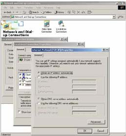 Windows XP/2000 1. Click the Start button then right-click My Network Places and then click Properties. 2.