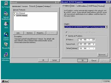 Windows NT 4.0 1. Click the Start button, located in the lower left corner of the screen. 2. Move to Settings and then click Control Panel. 3.