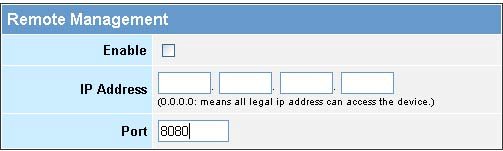 Administrator Settings Password Settings: Set an Administrator password if you wish to restrict management access to the LKR-604 Broadband Router.