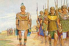 When Moroni received Alma s message, he left some soldiers to guard