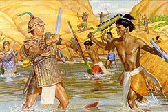 A battle began, and the Lamanites tried to escape across the
