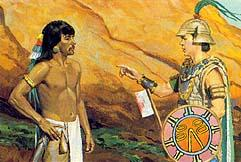 Ordering Zerahemnah to give up his weapons, Moroni said that the Lamanites