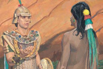 After Moroni had surrounded the Lamanites, what did he do that