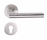 Premium Solid Lever Series Premium solid stainless steel lever suitable for use on fire doors, as well as standard doors. Fire Tested. Rose mounted levers with matching escutcheons in various designs.