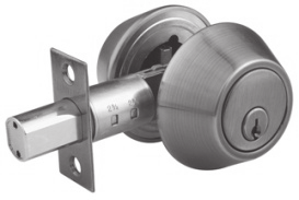 GLOBAL SERIES SGDB Z Series 65MM ROSE DEADBOLT Deadbolt with 65mm rose dia Deadbolt with Zinc Alloy Latch Bolt. Suitable for Door thickness 35-45mm. Available Functions: Single & Double Cylinder.