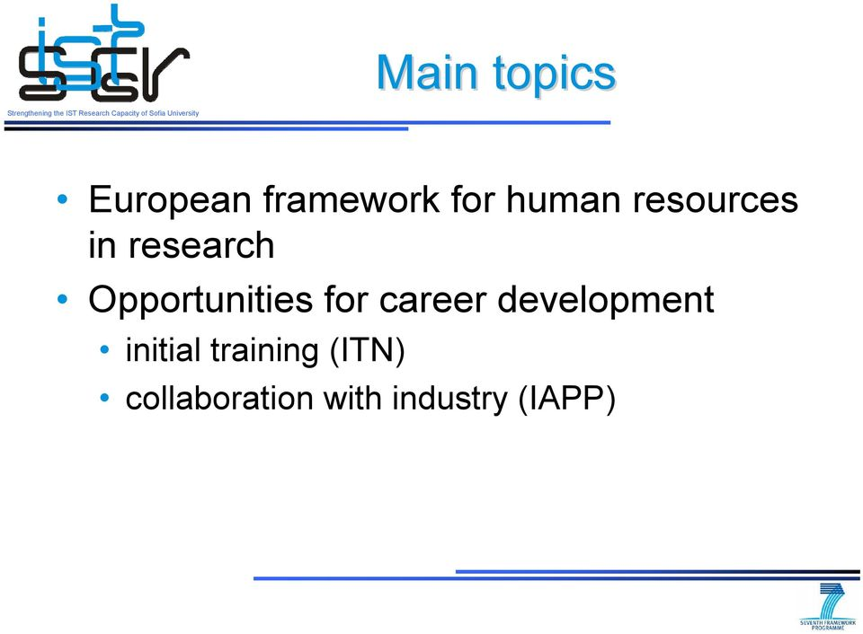 Opportunities for career development