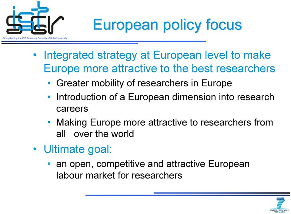 dimension into research careers Making Europe more attractive to researchers from all over