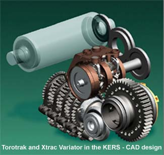 The KERS needs to be connected in to the driveline, ideally close to the final drive of the vehicle in order to maximise the power flow efficiency and hence the following initial concept resulted :-