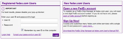 Import Shipping with fedex com - PDF