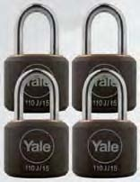 General Security Y110J/15/111/4 Body material : Solid Brass/Black Cover Shackle material : Steel No. of padlocks : 4 No.