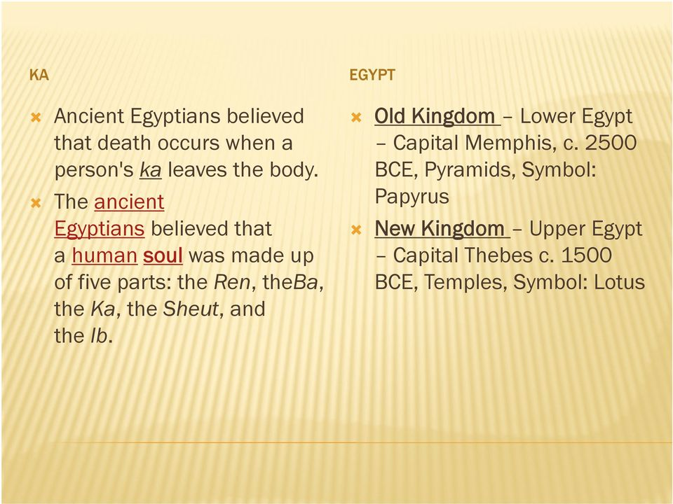 Chapter 3 Ancient Egypt - PDF