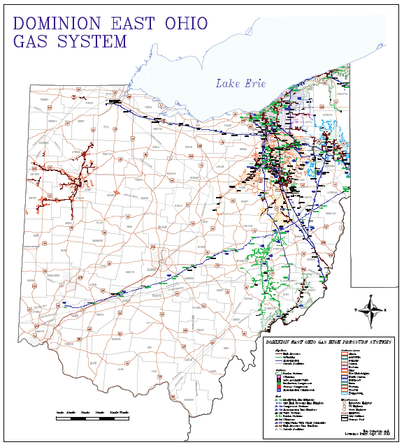 Dominion East Ohio DEO Unique Pipeline Assets: 1,196 miles of transmission and storage lines 1,413 miles of gathering lines 36 field compressor stations and over 4,000 metering