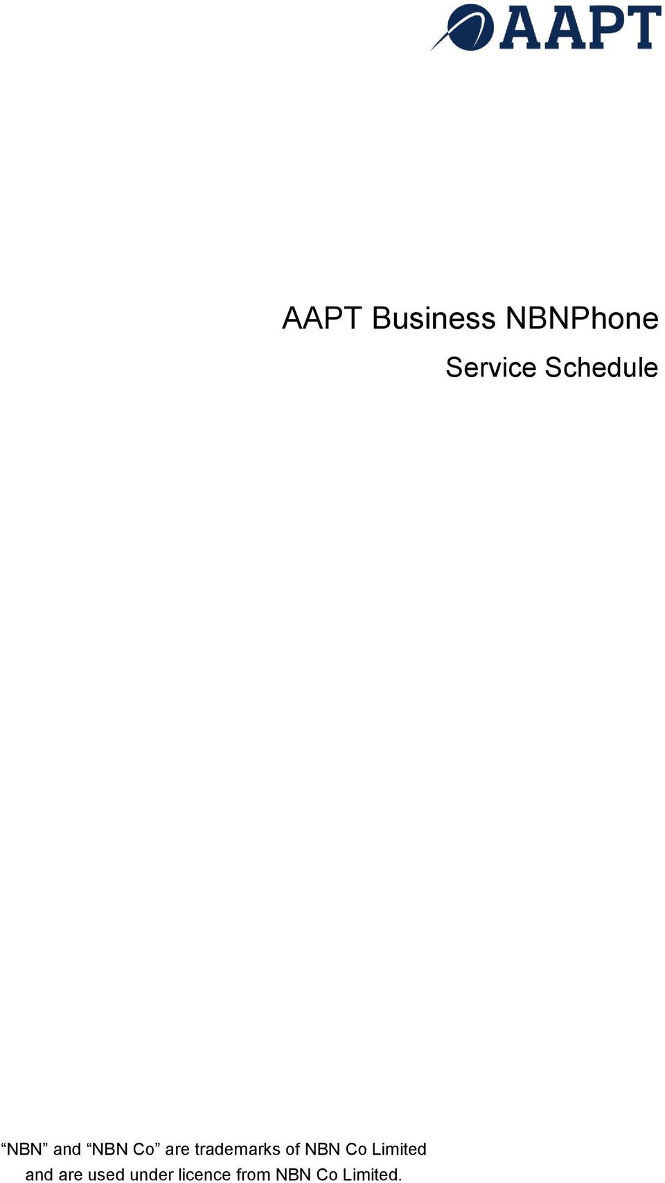 trademarks of NBN Co Limited and