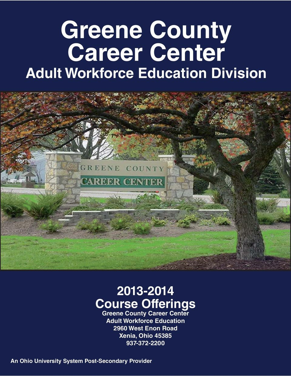 Offerings Adult Workforce Education