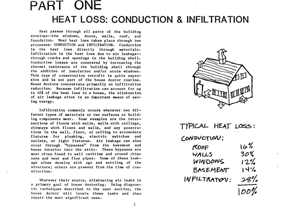 lnflltratlon 1s the heat loas due to alr leakage-- through cracks and openinga tn the bufldlng ahell.