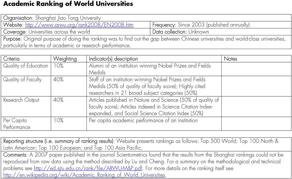 universities and world-class universities, particularly in terms of academic or research performance.