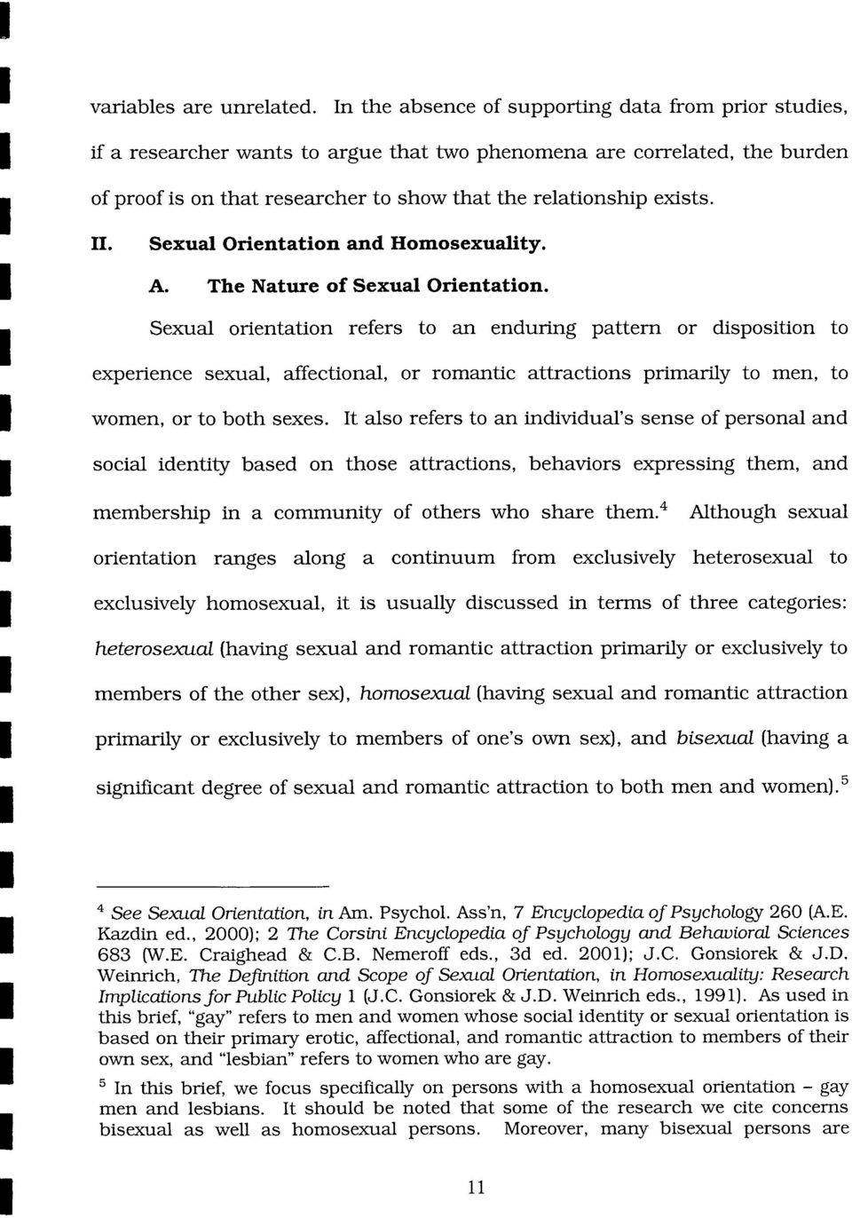 11. Sexual Orientation and Homosexuality. A. The Nature of Sexual Orientation.