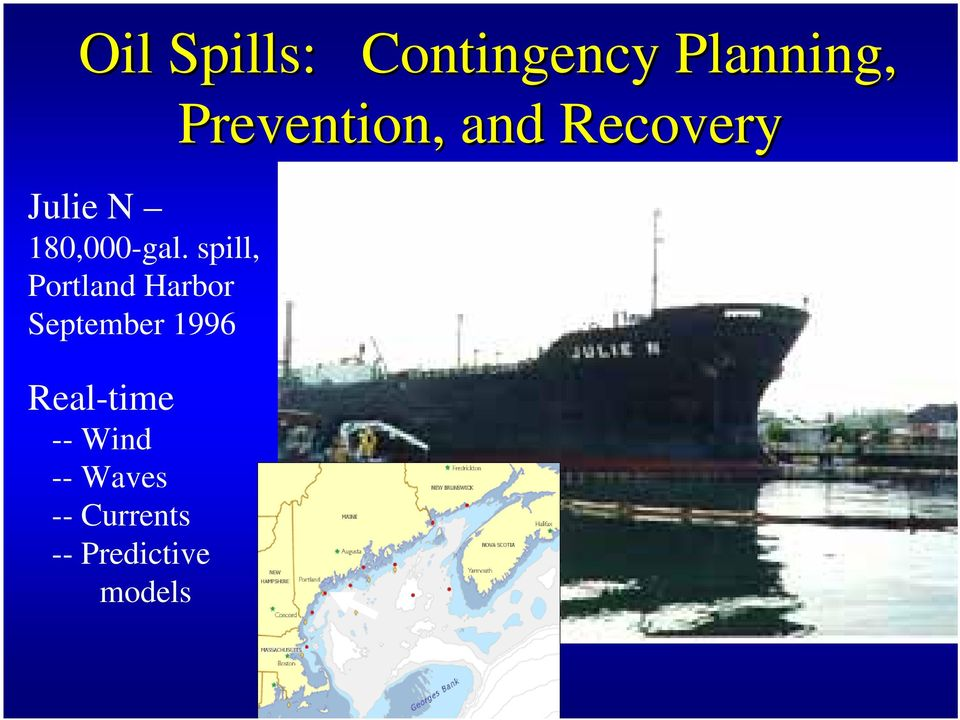 spill, Portland Harbor September 1996